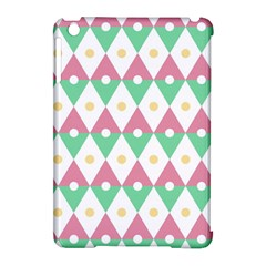 Diamond Green Circle Yellow Chevron Wave Apple Ipad Mini Hardshell Case (compatible With Smart Cover)
