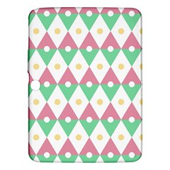 Diamond Green Circle Yellow Chevron Wave Samsung Galaxy Tab 3 (10 1 ) P5200 Hardshell Case