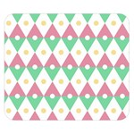 Diamond Green Circle Yellow Chevron Wave Double Sided Flano Blanket (Small)  50 x40 Blanket Back