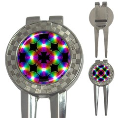 Circle Color Flower 3 In 1 Golf Divots
