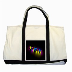 Dream Colors Neon Bright Words Letters Motivational Inspiration Text Statement Two Tone Tote Bag