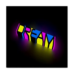 Dream Colors Neon Bright Words Letters Motivational Inspiration Text Statement Face Towel
