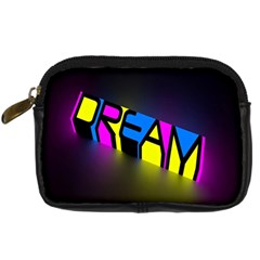 Dream Colors Neon Bright Words Letters Motivational Inspiration Text Statement Digital Camera Cases