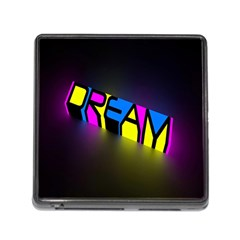 Dream Colors Neon Bright Words Letters Motivational Inspiration Text Statement Memory Card Reader (square)