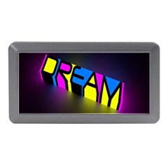 Dream Colors Neon Bright Words Letters Motivational Inspiration Text Statement Memory Card Reader (mini)