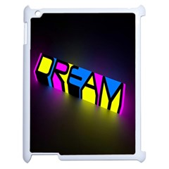 Dream Colors Neon Bright Words Letters Motivational Inspiration Text Statement Apple Ipad 2 Case (white)