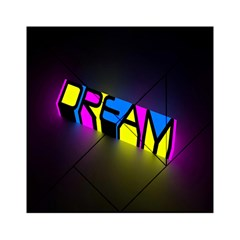Dream Colors Neon Bright Words Letters Motivational Inspiration Text Statement Acrylic Tangram Puzzle (6  X 6 )