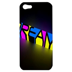 Dream Colors Neon Bright Words Letters Motivational Inspiration Text Statement Apple Iphone 5 Hardshell Case