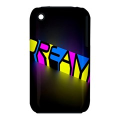 Dream Colors Neon Bright Words Letters Motivational Inspiration Text Statement Iphone 3s/3gs