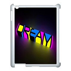 Dream Colors Neon Bright Words Letters Motivational Inspiration Text Statement Apple Ipad 3/4 Case (white)