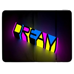Dream Colors Neon Bright Words Letters Motivational Inspiration Text Statement Samsung Galaxy Tab 7  P1000 Flip Case