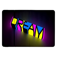 Dream Colors Neon Bright Words Letters Motivational Inspiration Text Statement Samsung Galaxy Tab 8 9  P7300 Flip Case