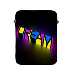 Dream Colors Neon Bright Words Letters Motivational Inspiration Text Statement Apple Ipad 2/3/4 Protective Soft Cases
