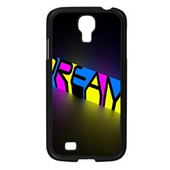 Dream Colors Neon Bright Words Letters Motivational Inspiration Text Statement Samsung Galaxy S4 I9500/ I9505 Case (black)