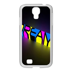 Dream Colors Neon Bright Words Letters Motivational Inspiration Text Statement Samsung Galaxy S4 I9500/ I9505 Case (white)