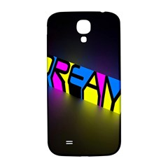 Dream Colors Neon Bright Words Letters Motivational Inspiration Text Statement Samsung Galaxy S4 I9500/i9505  Hardshell Back Case