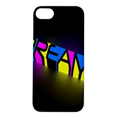 Dream Colors Neon Bright Words Letters Motivational Inspiration Text Statement Apple Iphone 5s/ Se Hardshell Case