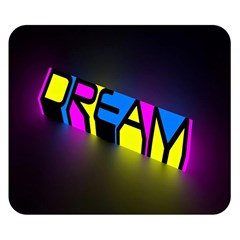 Dream Colors Neon Bright Words Letters Motivational Inspiration Text Statement Double Sided Flano Blanket (small)
