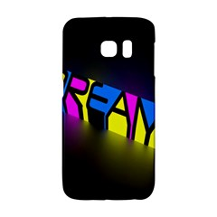 Dream Colors Neon Bright Words Letters Motivational Inspiration Text Statement Galaxy S6 Edge