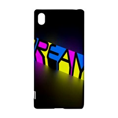 Dream Colors Neon Bright Words Letters Motivational Inspiration Text Statement Sony Xperia Z3+