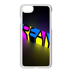 Dream Colors Neon Bright Words Letters Motivational Inspiration Text Statement Apple Iphone 7 Seamless Case (white)
