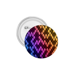 Colorful Abstract Plaid Rainbow Gold Purple Blue 1 75  Buttons