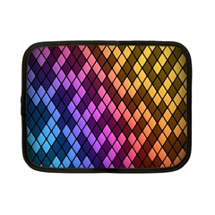 Colorful Abstract Plaid Rainbow Gold Purple Blue Netbook Case (small)