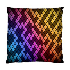 Colorful Abstract Plaid Rainbow Gold Purple Blue Standard Cushion Case (one Side)