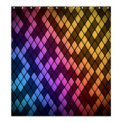 Colorful Abstract Plaid Rainbow Gold Purple Blue Shower Curtain 66  X 72  (large)