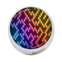 Colorful Abstract Plaid Rainbow Gold Purple Blue 4 Port Usb Hub (two Sides)