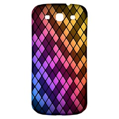 Colorful Abstract Plaid Rainbow Gold Purple Blue Samsung Galaxy S3 S Iii Classic Hardshell Back Case