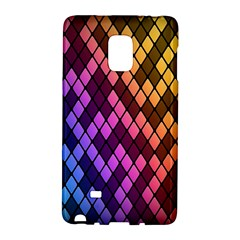 Colorful Abstract Plaid Rainbow Gold Purple Blue Galaxy Note Edge