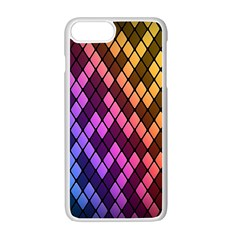 Colorful Abstract Plaid Rainbow Gold Purple Blue Apple Iphone 7 Plus White Seamless Case