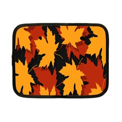 Dried Leaves Yellow Orange Piss Netbook Case (small)