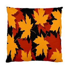 Dried Leaves Yellow Orange Piss Standard Cushion Case (two Sides)