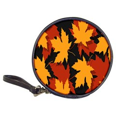 Dried Leaves Yellow Orange Piss Classic 20 Cd Wallets