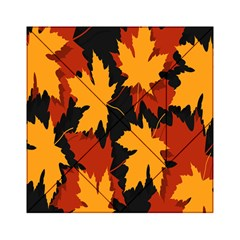 Dried Leaves Yellow Orange Piss Acrylic Tangram Puzzle (6  X 6 )