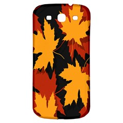 Dried Leaves Yellow Orange Piss Samsung Galaxy S3 S Iii Classic Hardshell Back Case