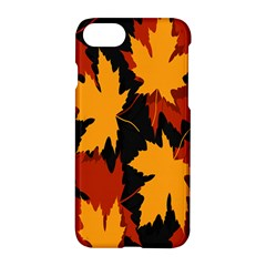 Dried Leaves Yellow Orange Piss Apple Iphone 7 Hardshell Case