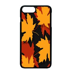 Dried Leaves Yellow Orange Piss Apple Iphone 7 Plus Seamless Case (black)