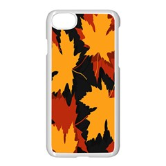 Dried Leaves Yellow Orange Piss Apple Iphone 7 Seamless Case (white)
