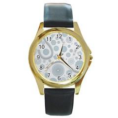 Eguipment Grey Round Gold Metal Watch