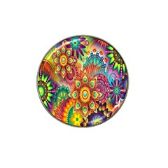 Colorful Abstract Flower Floral Sunflower Rose Star Rainbow Hat Clip Ball Marker