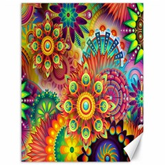 Colorful Abstract Flower Floral Sunflower Rose Star Rainbow Canvas 18  X 24