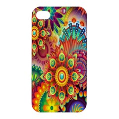 Colorful Abstract Flower Floral Sunflower Rose Star Rainbow Apple Iphone 4/4s Hardshell Case