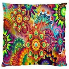 Colorful Abstract Flower Floral Sunflower Rose Star Rainbow Large Cushion Case (two Sides)