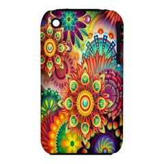 Colorful Abstract Flower Floral Sunflower Rose Star Rainbow Iphone 3s/3gs