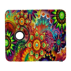 Colorful Abstract Flower Floral Sunflower Rose Star Rainbow Galaxy S3 (flip/folio)