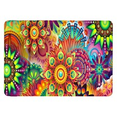 Colorful Abstract Flower Floral Sunflower Rose Star Rainbow Samsung Galaxy Tab 8 9  P7300 Flip Case
