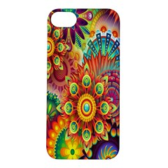 Colorful Abstract Flower Floral Sunflower Rose Star Rainbow Apple Iphone 5s/ Se Hardshell Case